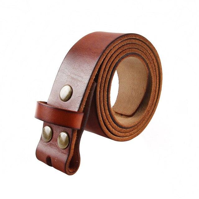 "Senmi Brand 100% genuine leather belts for men Brown jeans Belts no buckle  size 29"" -42"" inch"