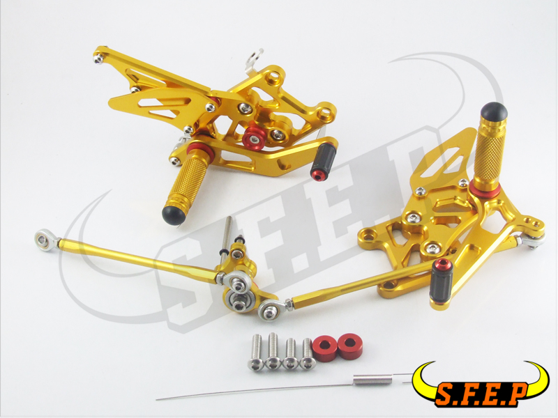 CNC Adjustable Rearsets Rear Sets foot pegs For Honda CBR600RR 2007-2017