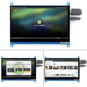 Image 2 - New 7 inch USB HDMI LCD Màn Hình Hiển Thị 1024x600 Điện Dung Màn Hình Cảm Ứng Cho Raspberry Pi 3 B +