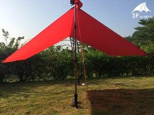 Image 4 - 3F UL Gear خفيفة قماش القنب خفيفة الوزن الشمس المأوى التخييم حصيرة خيمة بصمة 20D النايلون سيليكون 195g Tenda Para Carro