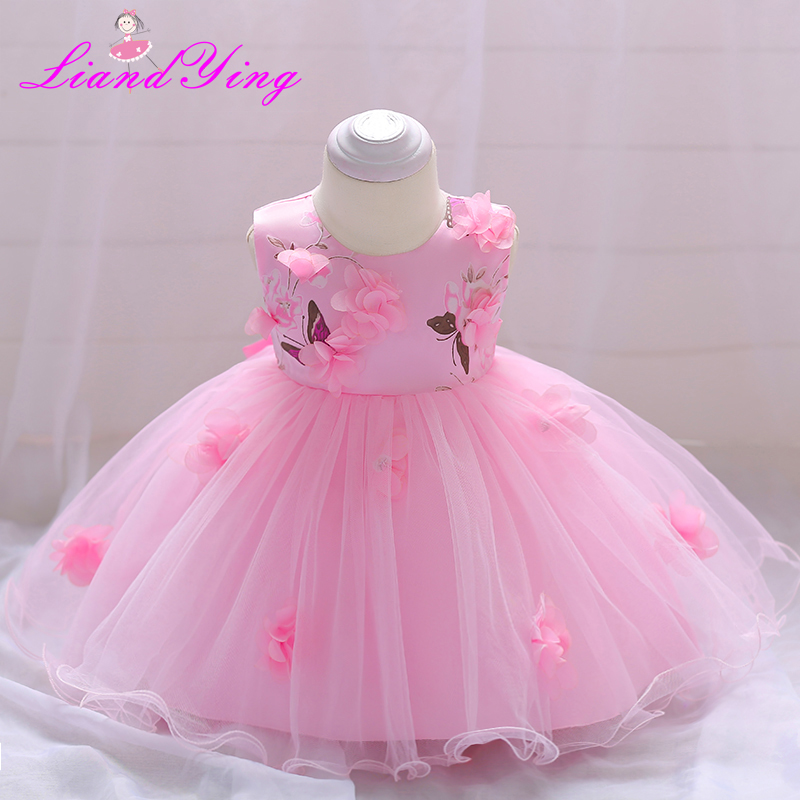 2018 Vintage Baby Girl Dress Baptism Dresses for Girls 1st Year Birthday Party Wedding Christening Baby Infant Clothing new born baby girl dress for wedding toddler baby 1 2 year 1st 2st birthday party dress for girls infant baptism 3pcs set 1780