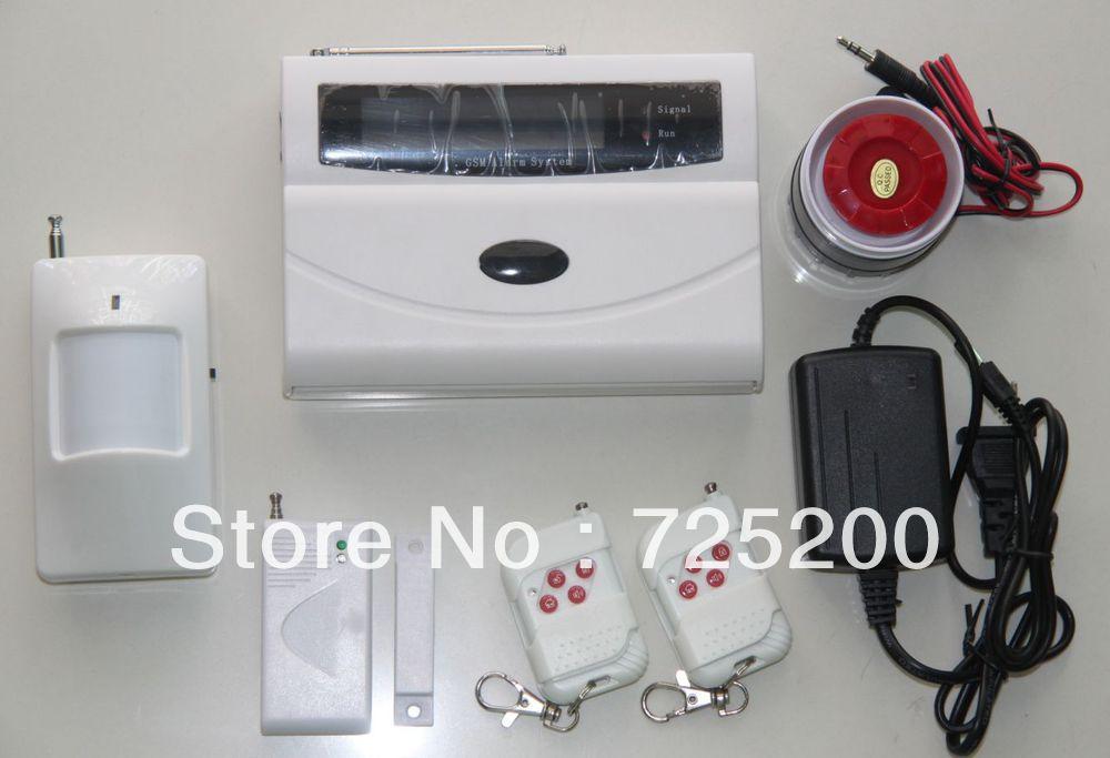ФОТО Cheapest GSM Alarm System Burglar Intruder Alarm Security System with Motion Sensor, Door Sensor, Remote Controller and Siren