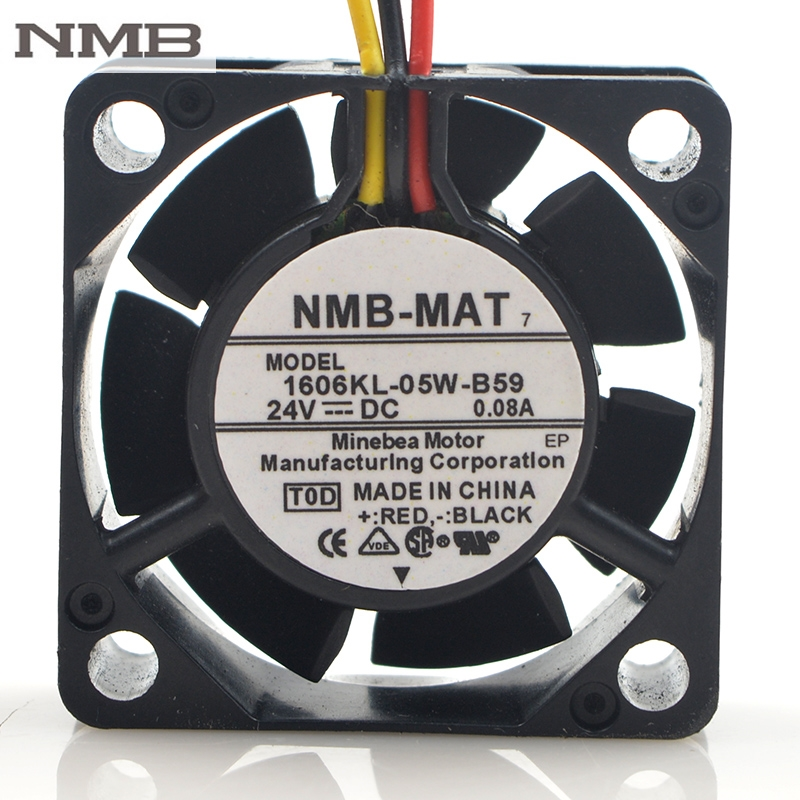 Original For NMB 4015 1606KL 05W B59 L02 24V 0 08A FH6 1742 3Wire Cooling Fan