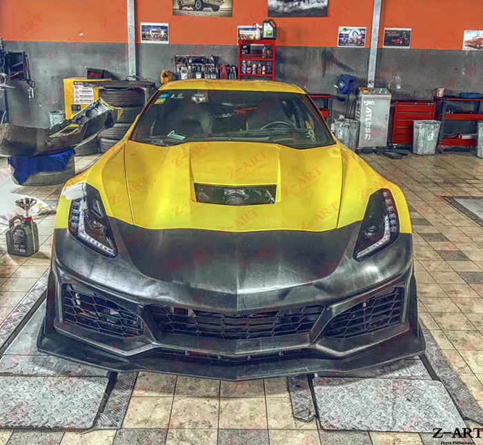 Corvette C7 Zr1 >> Us 3199 2 20 Off Z Art Zr1 Tubuh Kit Untuk Corvette C7 Zr1 Bumper Depan Untuk Corvette C7 Retrofit Tubuh Kit Untuk Corvette C7 2014 2019 In Body Kit