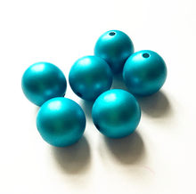 (choose size) 12mm/16mm/20mm aqua blue Acrylic Matte pearls Beads for Colorful Chunky Beads Necklace Jewelry(China)
