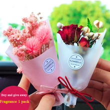 10pcs Car Air Freshener PVC Cute Dried Flower Mini Bouquet Conditioner Outlet Perfume Clip Auto Accessorie Fragrance Diffuse