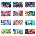 6Pcs/1lot Kids Boys Girls Socks Cartoon Print 2017 New Arrival Cute Infant Socks Hot Sale Children Clothing Fit 2-10 Years GZ19