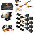 """Автомобилей 8 Датчики/4-LED CCD Camera/3.5 """"Монитор вид Спереди и Сзади Dual View Датчик Парковки Заднего вида система # CA4449"""