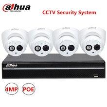 Dahua 4CH NVR 4MP IR IP POE Camera IPC-HDW4431C-A Alarm IR 30M P2P ONVIF WDR Night Version CCTV Camera Surveillance System