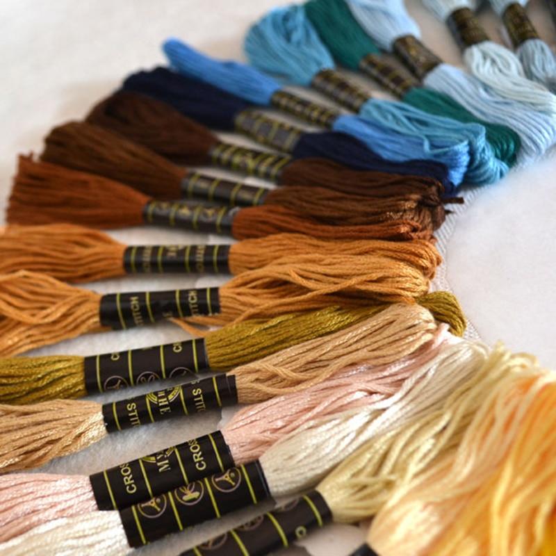 100 ancla punto de cruz algodón diferentes colores bordado Hilo coser madeja artesanía #