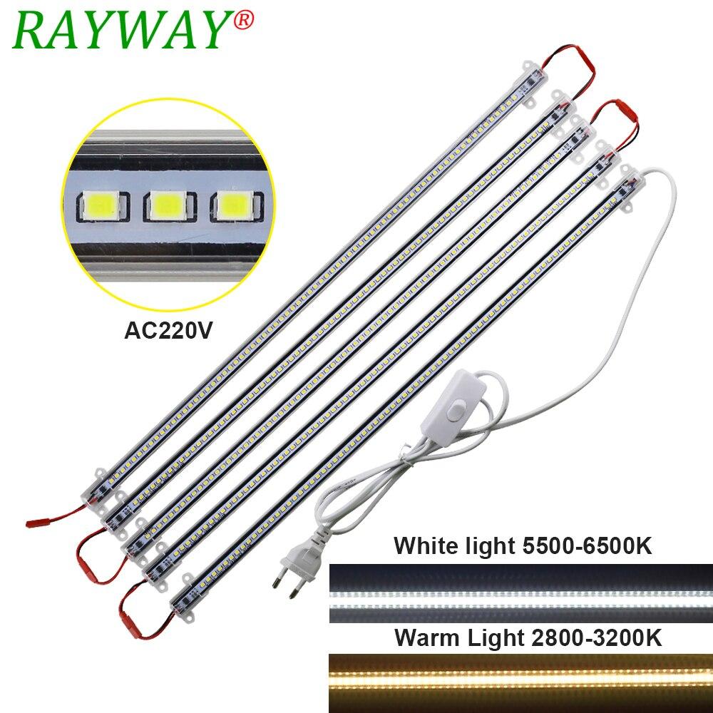 5pcs 2835 LED Rigid Light Bar White Warm White 50cm LED Cabinet Strip Rigid 220V AC Showcase LED Hard Strip wtih EU plug 12v 75 led white light strip 50cm page 9