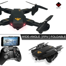XS809W Mini Foldable Drone RC Selfie Drone with Wifi FPV HD Camera  Headless Mode RC Quadcopter Drone FSWB holy stone hs190w drone rc quadcopter wifi selfie aerial camera headless mode racing drone foldable pocket rc helicopter toys