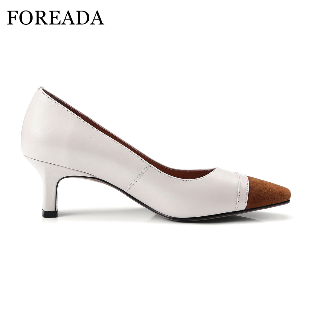 30271c3d44 FOREADA-Genuine-Leather-Shoes-Pumps-Women-Strange-High-Heels-Party-Shoes -Mix-Color-Slip-On-Square.jpg