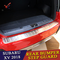 For Subaru XV GT3 GT7 2017 2018 Stainless Steel Outer Rear Bumper Protector Guard Plate Trim