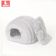PETKITTY cat cave house sheep winter warm Foldable Puppy kennel Kitty pet bed semi-enclosed Comfortable Soft Pet Nest