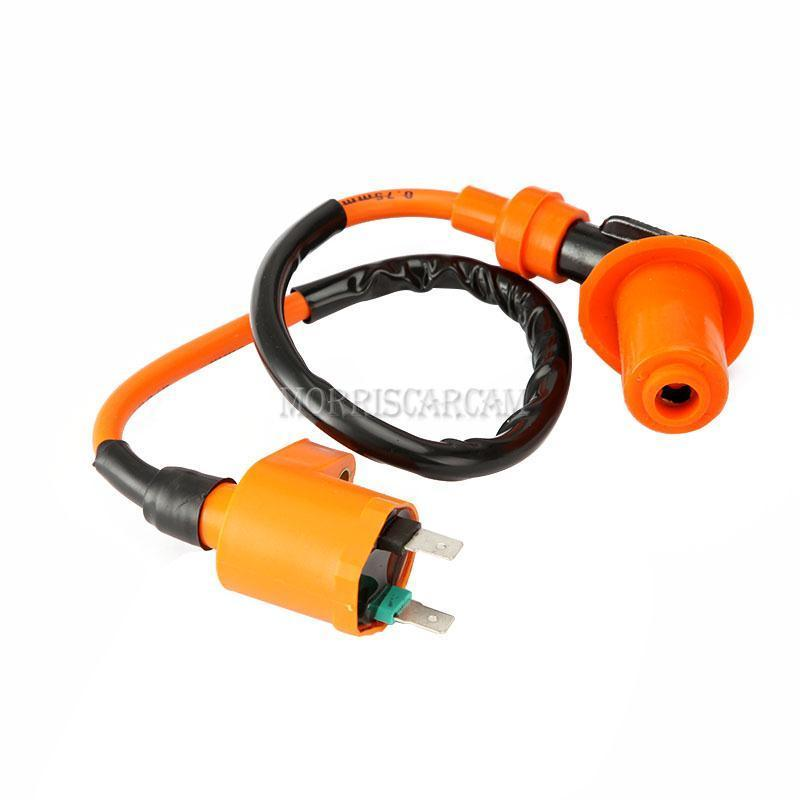 performance ignition coil high spark plug wire gy6 150cc. Black Bedroom Furniture Sets. Home Design Ideas