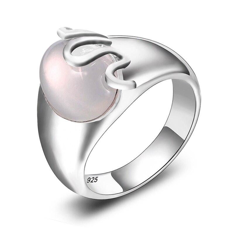 bdf1f6380ba3 Anillos de piedra de Luna Natural de calidad superior plata Real 925  Original ovalado Arco Iris piedra lunar BESTSELLER tamaño del anillo 6-10  nueva ...