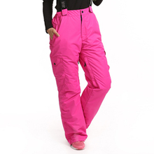 Dropshipping -30 degree snow pants plus size elastic waist lady trousers winter skating pants skiing outdoor ski pants for women