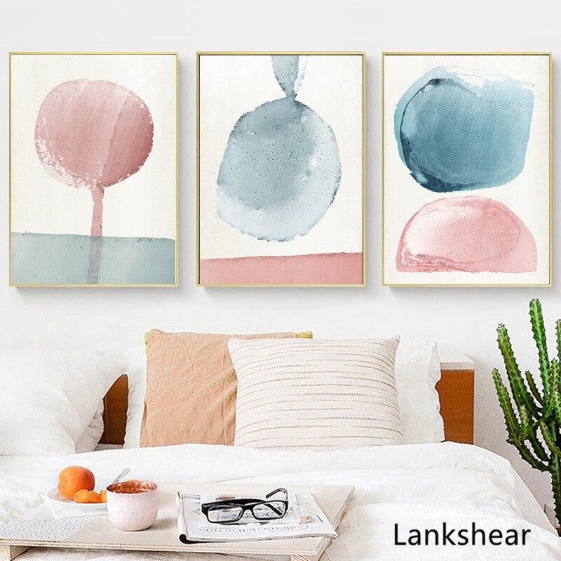 Абстрактные настенные картины, настенные художественные пастельные плакаты и принты, минималистское полотно, декоративные картины, художественный Декор|Рисование и каллиграфия| | - AliExpress