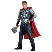 The Avengers Thor Adult Muscle Halloween Cosplay Costume Avengers Costume Movie Superhero Muscle Uniform 165-180cm For Men new arrival child boys the avengers superhero muscle thor costume
