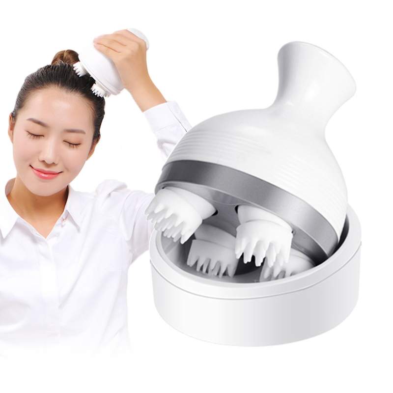 Wireless electric massager for head neck shiatsu massager body manual 4 heads scalp massager device head relax health care