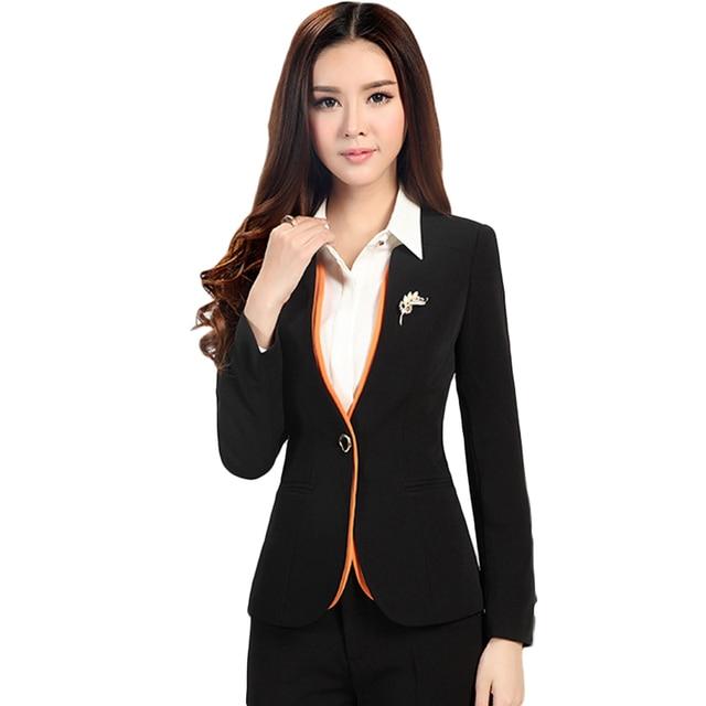 Работа Пальто 2016 новая мода полный рукавом твердые плюс размер 5XL женская одежда one button ПР офисные блейзеры 6123