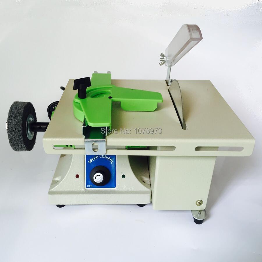 Hot Sale Trim Saw Machine Jewelry Polishing Machine Mini Bench Lathe With 2pcs 6 Baldes And 1