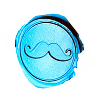 Vintage Funny Mustache Custom Picture Logo Wedding Invitation Wax Seal Sealing Stamp Sticks Spoon Gift Box