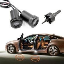 2 шт. Автомобильная дверь приветственные огни лазерный автомобильный призрак тени светодиодные лампы Универсальный для Lada Kia Toyoda hyundai Honda Ford