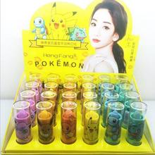 48pcs Pokemon Cute Lipstick Moisturize Batom Makeup Full Lips