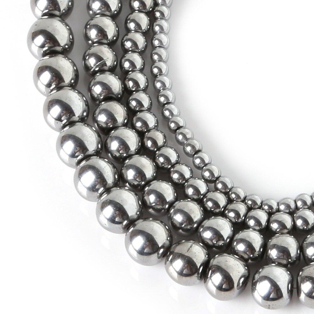 Natural Hematite Beads. Size of 8mm.  |Hematite Beads