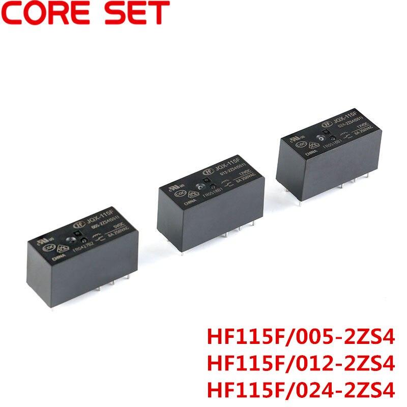 5V 12V 24V VDC Relays HF115F-JQX-115F- 005 012 024-2ZS4 8A 250VAC 8PIN new relay hf115f q 048 1h hf115f q 048 1h jqx 115f q 048 1h jqx 115f q 048 1h 48vdc 48v dc48v 20a 250vac