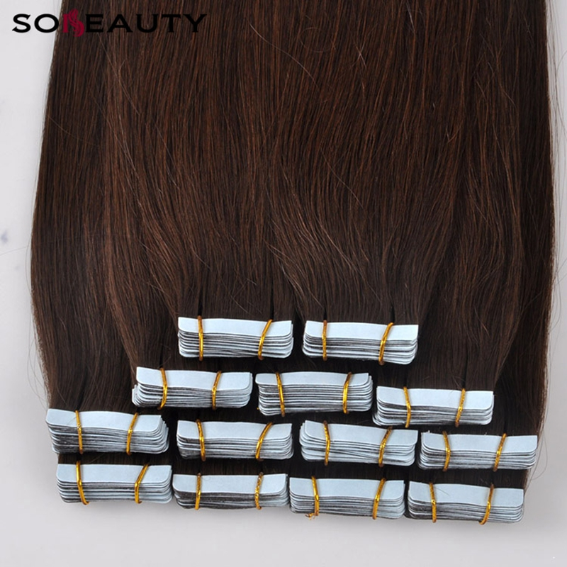 Sobeauty Tape In  Human Hair PU Adhesive Extension 14