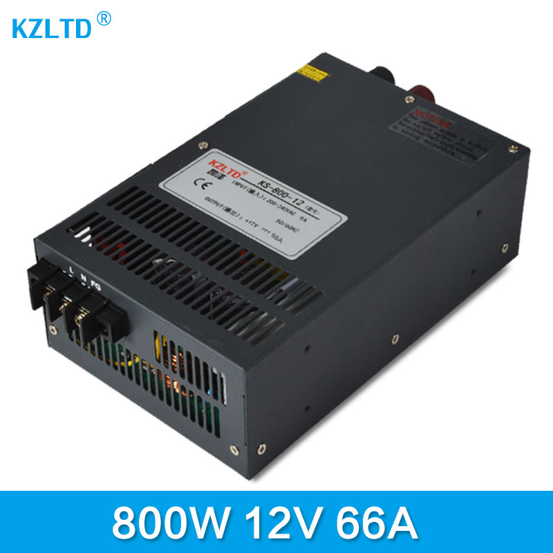 купить 800W 12V Switching Power Supply Driver For LED Light Strip Display AC To DC SMPS 220 to 12V Adapter CNC Transformer недорого