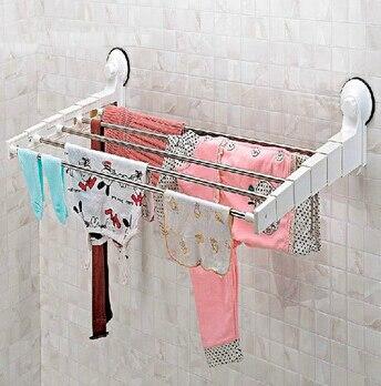 2015 Hot Sale Strong Sucker Bathroom Towel racks Telescopic Racks Super Sucker Towel Rack Hanging Drying Rack