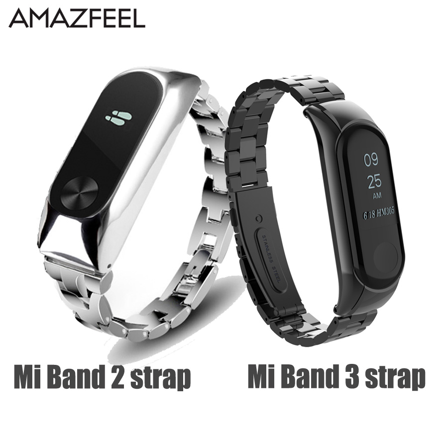 xiaomi mi band 2 screwless stainless steel strap miband 2 metal wrist strap bracelet for mi band2 smart wristbands accessories Mi Band 2 Wrist Strap Metal For Xiaomi Mi Band 3 2 Bracelet Screwless Stainless Steel Miband 2 Wristbands Miband 3 Strap correa