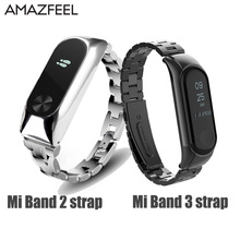 Mi Band 2 Wrist Strap Metal For Xiaomi Mi Band 3 2 Bracelet Screwless Stainless Steel