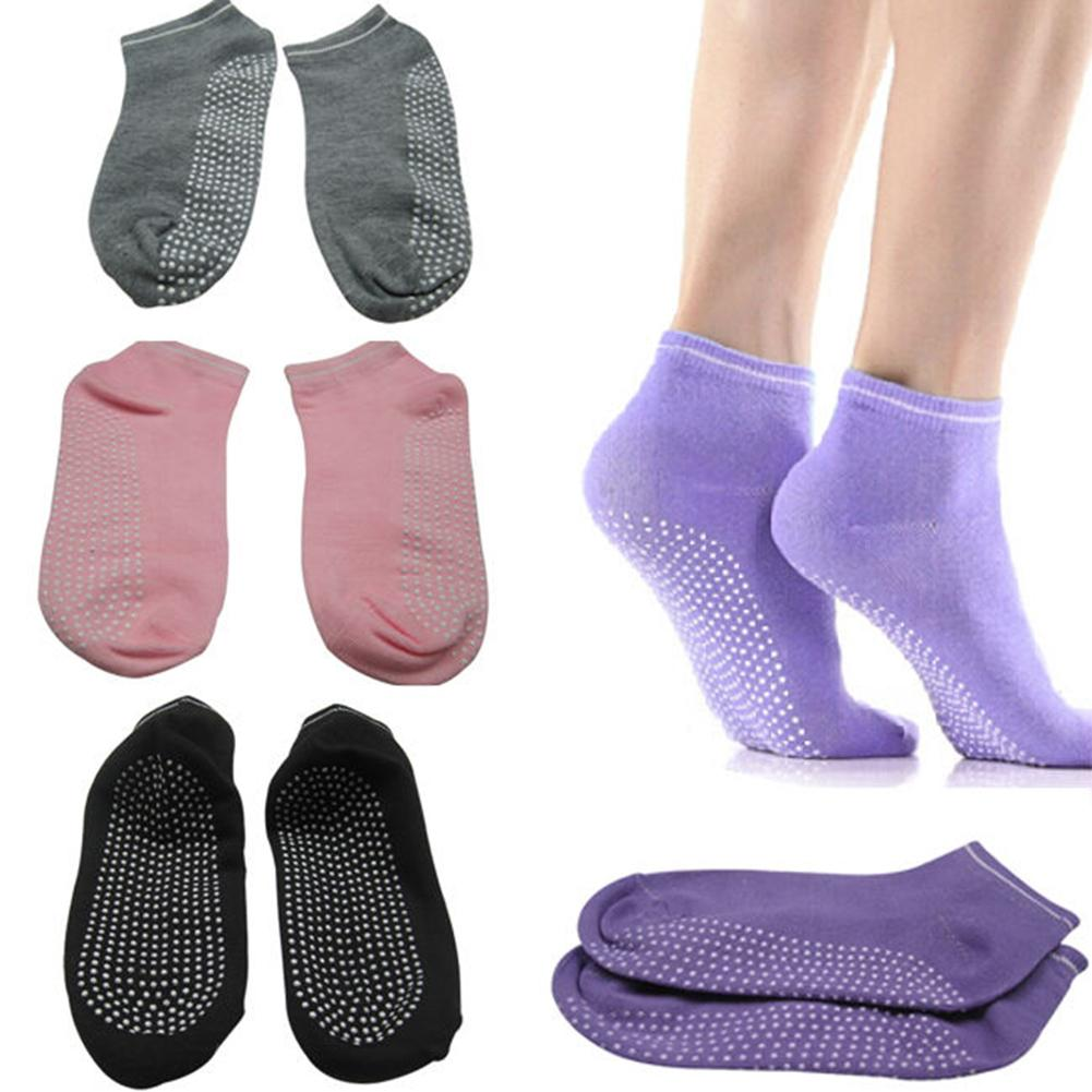 <+>  Леди Девушки Женщины Спорт Пилатес Йога Non Slip Grip Socks 4 Цвета ✔