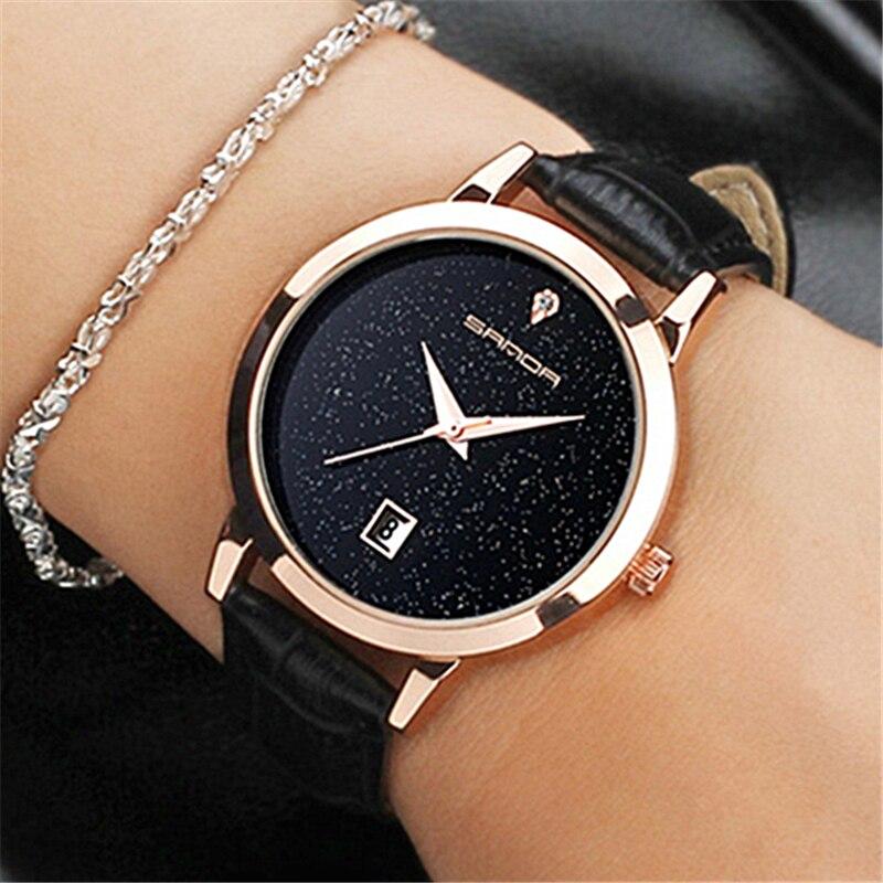 SANDA 2018 Mode Uhren Frauen Uhren Damen Luxusmarke Quarzuhr Frauen Uhr Relogio Feminino Montre Femme