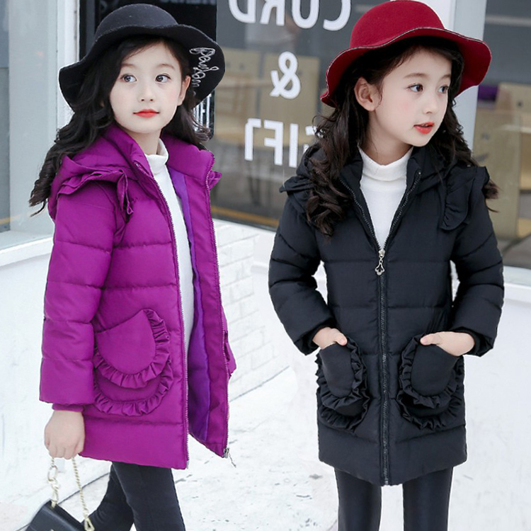 2018 New Girls Long Padded Jacket Kids Winter Coat Kids Warm Thickening Hooded Down Coats For Teenage Outwear Winterjas Meisjes 2018 new girls long padded jacket kids winter coat kids warm thickening hooded down coats for teenage outwear 30 winter coat 12