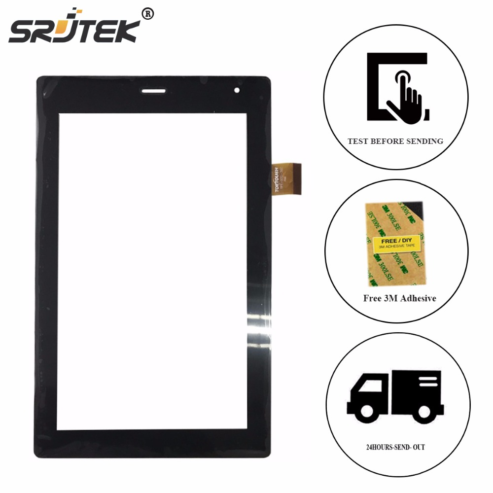 SRJTEK 7 inch for MegaFon Login 3 MT4A Login3 MFLogin3T Tablet PC Touch Screen capacitive panel Digitizer Glass Sensor original touch screen panel digitizer glass sensor replacement for 7 megafon login 3 mt4a login3 tablet free shipping