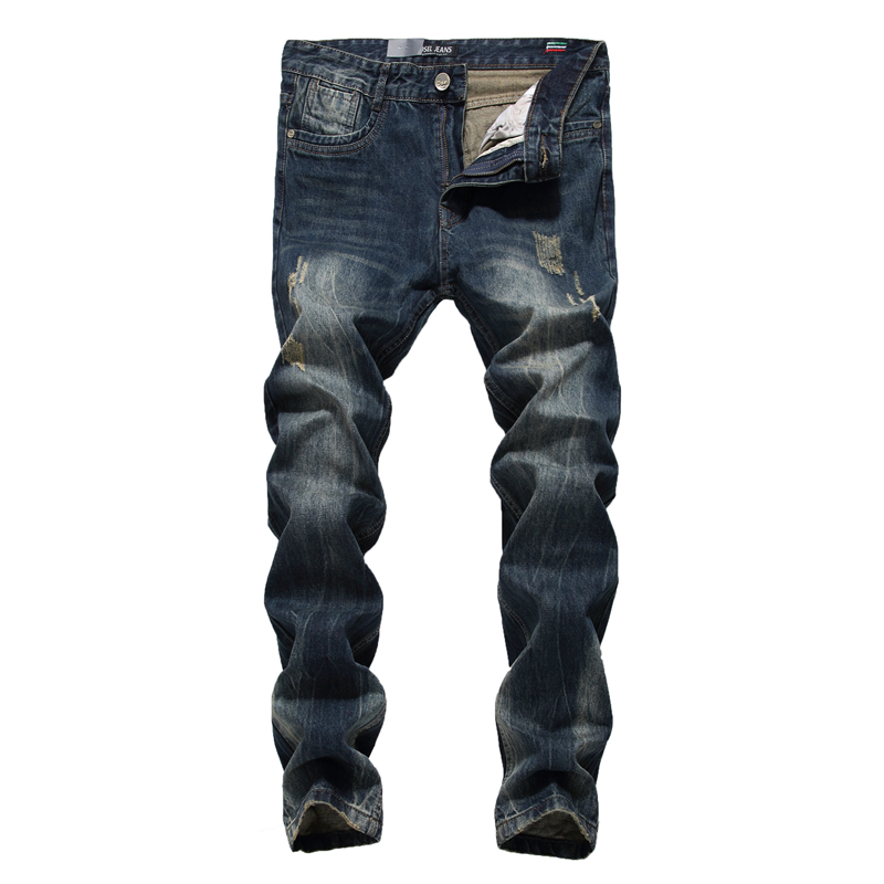 Fashion Slim Straight Dark Jeans Men Mid Stripe Mens Jeans Ripped Denim Trousers New Famous Brand Biker Jeans A625 2017 fashion patch jeans men slim straight denim jeans ripped trousers new famous brand biker jeans logo mens zipper jeans 604
