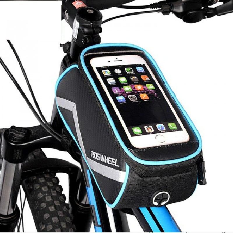 Roswheel fahrrad smartphone tasche 6,2 zoll touch bildschirm extra große MTB Rennrad Radfahren Pannier Top Rahmen Korb Beutel D12496