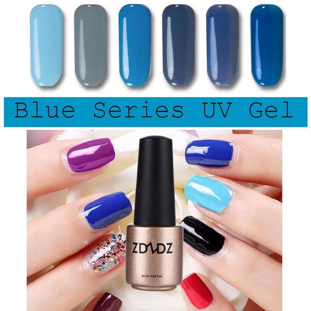 Blue Series UV Gel Nail Polish LED Light UV Manicure for Gel Nail ...
