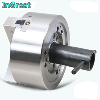 6 Inch Hydraulic Chuck 3 Jaw Hollow Power Chuck 6 & Back Plate for CNC Lathe Boring Cutting Tool Holder Hole Oil CE