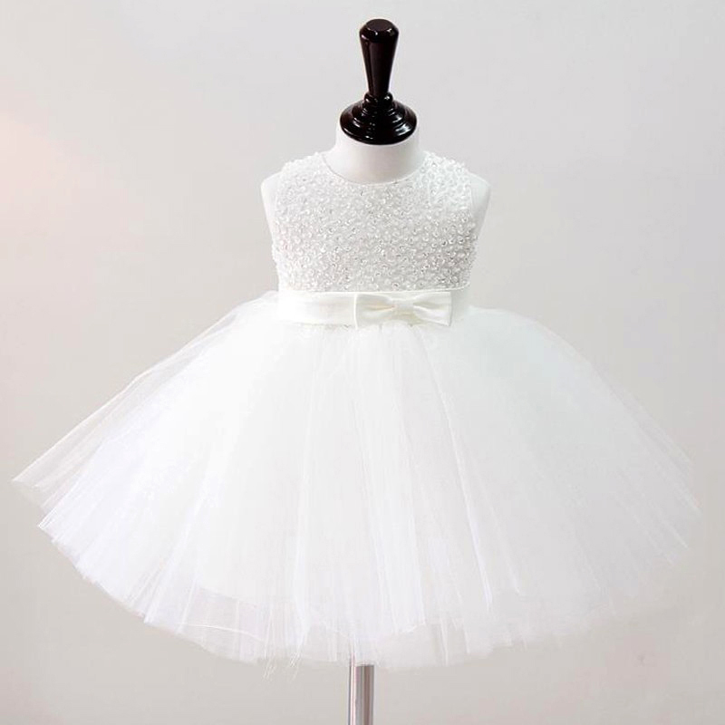 2015 New Kids Girls Wedding Dress Hand Beading Party Dress Sleeveless Tutu Dress For Baby Girls