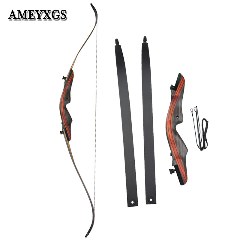1set Hunting 60 62inch Recurve Bow 20 60lbs Draw Weight Composite Material Recurve Bow Shooting Archery