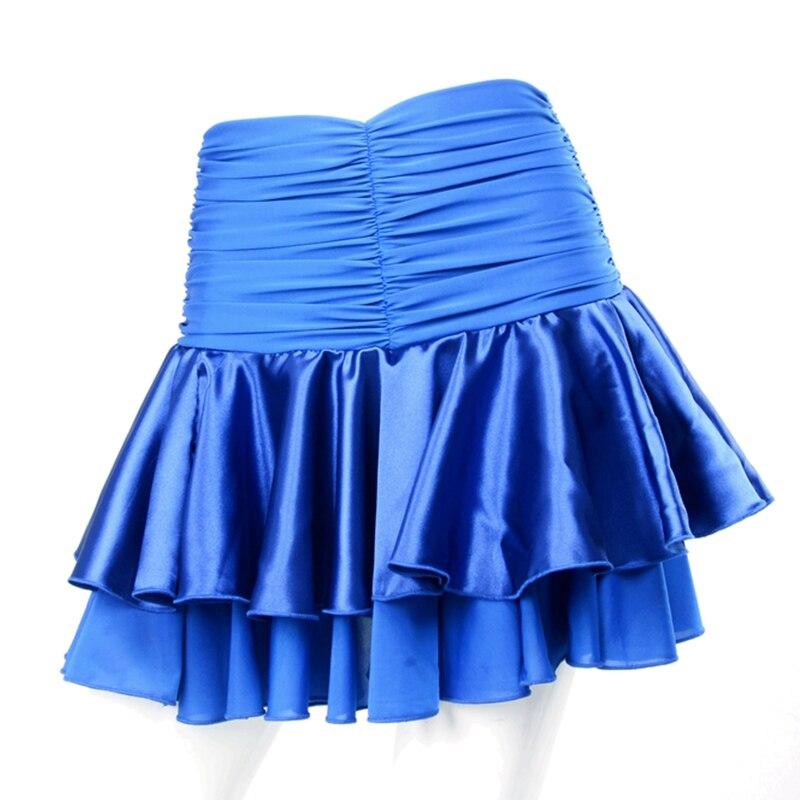 New WomenS GirlS Ballroom Dance Skirt For Women Waltz Tango Dancing Performance Wear Folds Short Skirts Accept Customize Size