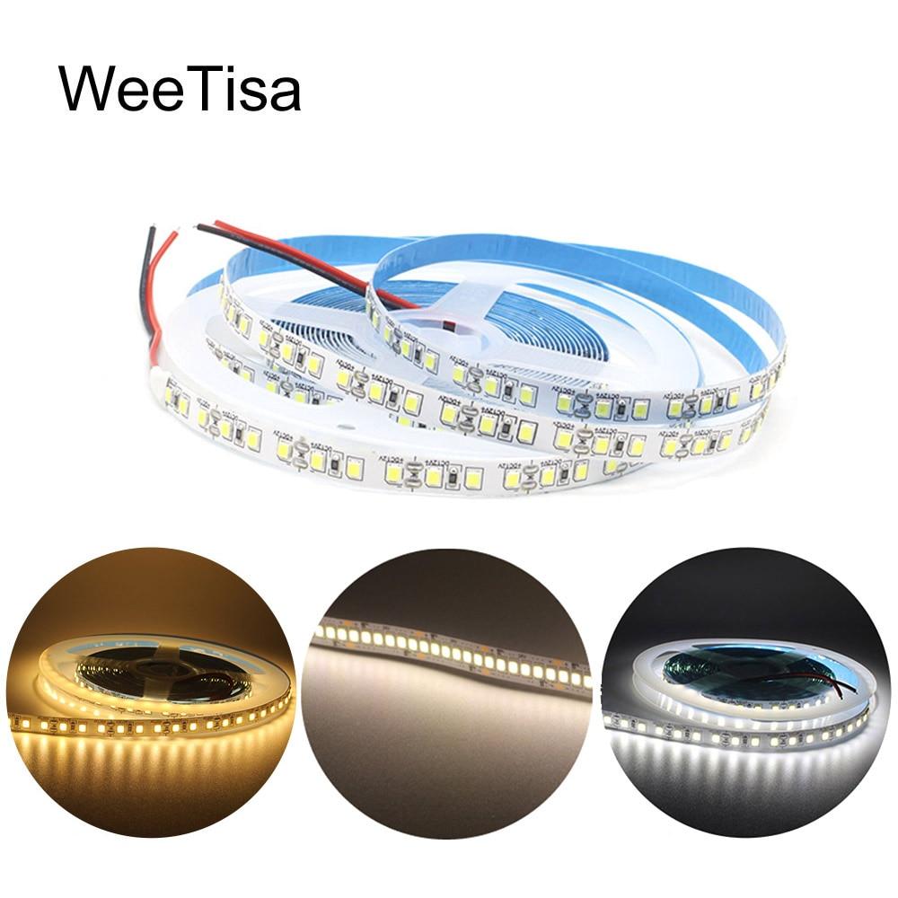 Светодиодная лента, 12 В постоянного тока, SMD 2835, 120 светодиодов/м, 1 м, 2 м, 3 м, 4 м, 5 м, Светодиодная лента Tira, e-Tape, теплый белый, 240 светодиодов/м, ги...