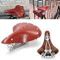 Классическое кожаное седло для велосипеда в стиле ретро  винтажное Велосипедное Сиденье из натуральной кожи с подушкой на весну